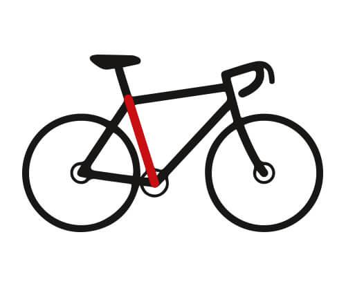 Framehoogte fiets meten
