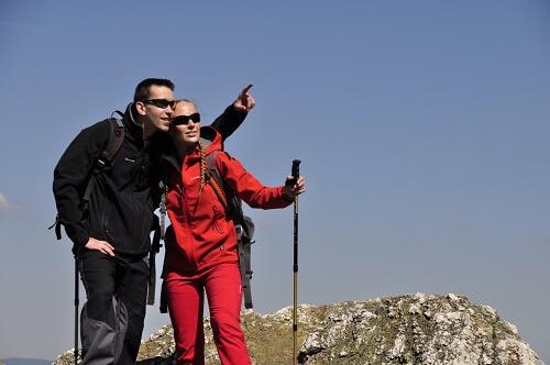 Telescopische stokken zijn ideaal voor bergtouren