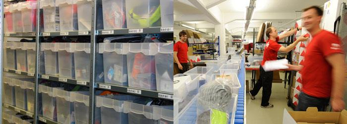 Meer dan 60.000 artikelen liggen in ons magazijn; op de drukste dagen verwerken we meer dan 3.000 bestellingen